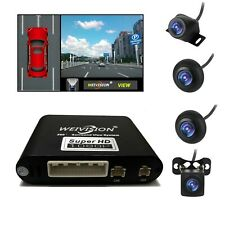 1080P 360 Degree Bird View Panorama System Car DVR Record with 4HD Cameras