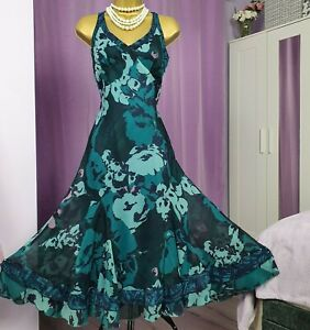 UK 14 BNWT Lovely M/&S Collection Chiffon Style Lightweight Floral Summer Dress