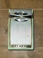 Vintage 1960's Motorola Model X11G 6 Transistor Radio & Case Green Turquoise