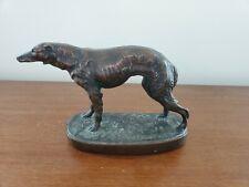 Vintage Bronze Dog Sculpture Figure
