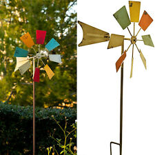 Metal Windmill Stake Garden Decor Spinner Wind Yard Lawn Outdoor Multi-color