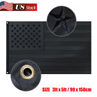 American Flag USA All Black | 3'x5' ft EMBROIDERED Stars, Double Stitched Strip
