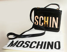Authentic black Moschino bag,black patent leather