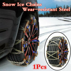 Steel 1Pcs Wheel Tire Snow Ice Anti-skid Chains For Car Truck Emergency Winter