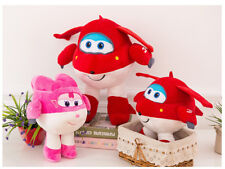 20-50cm  Super Wings Jett Plush Toys Super Wings Aircraft Robot Toys Gift Dolls