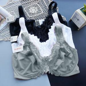 UK Ladies Plus Size Full Coverage Bra Non Padde Underwire Minimiser Bra Bralette