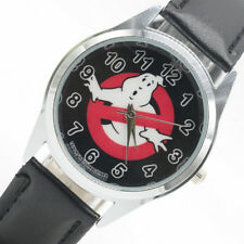 Ghostbusters Ghost Busters Film Movie Leather Analog Quartz Wrist Watch Black