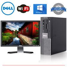 """Dell PC Computer Desktop CORE i5 3.2GHz 8GB 1TB HD Windows 10 w/ 19"""" LCD"""