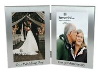 """30th Pearl Wedding Anniversary Double Twin Photo Frame Our Wedding Day Gift 4x6"""""""