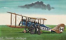Postcard 86 - Plane/Aviation KLM Havilland D.H.9 (large)