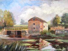 Anne Williams Signed Original Vintage Oil Painting Cutt Mill, Dorset Landscape