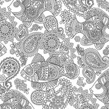 Michael Miller Color Me DC7156 White Fish Frenzy BTY Cotton Fabric