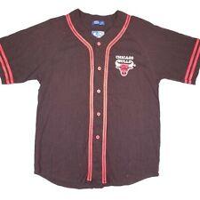 VTG Chicago Bulls Starter Jersey Shirt Short Sleeve Black Logo Basketball NBA