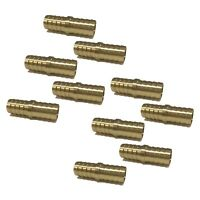 """(10 Pack) 3/4"""" Hose Barb Mendor Union Splicer Brass Pipe Fitting Gas Fuel Air"""
