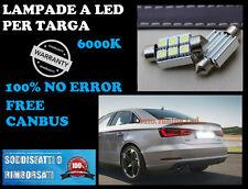 COPPIA LUCI TARGA LED PASSAT CC 08 - 14 3C 3B NO ERROR 36MM  CANBUS