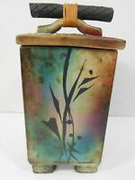 Lee Hazelgrove Ceramic Lidded Vessel Ikebana Studio Art Pottery GUC