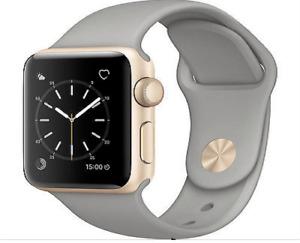 Apple Watch Series 2 38mm (Gold Aluminum Case, Concrete Sport Band)