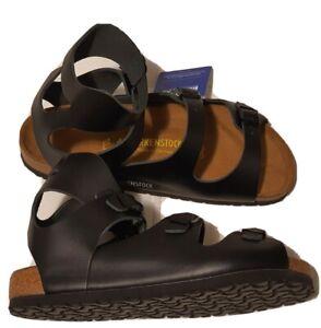 Birkenstock Athen Womens Sz 9 Mens Sz 7 EUR 40 Black Leather Gladiator Sandals