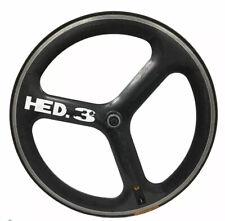 HED 3 | Tri Spoke 650C | Carbon Fiber Front Wheel | w/ Continental Tubular Tire
