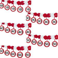 4 M Papiergirlande Verkehrsschild 30 Geburtstag Party Girlande