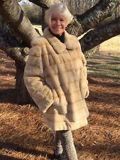 NEW Palomino Gold Blonde Sheared MINK Stroller Jacket  XL 2XL 14 16 18 no fox