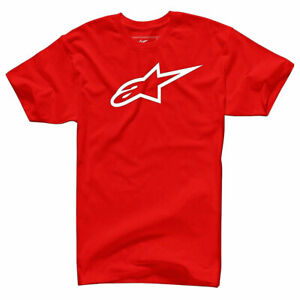 Alpinestars Ageless Classic Fashionable Casual Wear T-Shirt Heather Red / White
