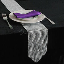 Rhinestone Diamond Mesh Table Runner Wedding Cake Flower Venue Table Cover Decor
