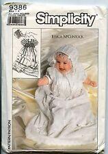 Babies Christening Dress, Slip and Bonnet - Simplicity Pattern -  NB- 6 mo-12 mo