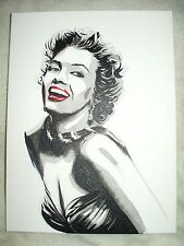 Canvas Painting Marilyn Monroe B&W Art 16x12 inch Acrylic