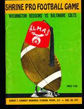 8/28 1971 Washington Redskins vs Baltimore Colts Football Program nfl5