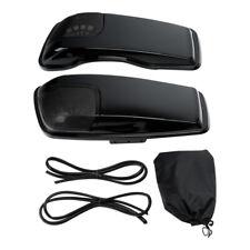 Black Saddlebag Lids Speaker Cutouts Fit For Harley Touring Road Glide 2014-2021