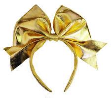 Lady Gaga lazo de oro en Diadema Charleston Alice Banda Boda Vestido De Lujo