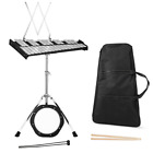 30 Notes Percussion Glockenspiel Bell Kit W/ Practice Pad Mallets Sticks & Stand