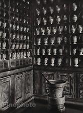 1927 Vintage FRANCE Besancon Hospital Dispensary Pharmacy Photo Art By HURLIMANN