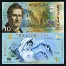 Poneet Islands, 10 Kasutu, Tobacco Note, 2019, POLYMER, UNC - Girls of Essence