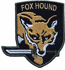 Metal Gear Solid 5 Fox Hound Special Force Group Embroidered Patch 10cm