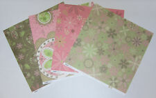 """8 Kaisercraft Double Sided Bloom Scrapbooking Paper 12""""x12"""" Card Making & Craft"""