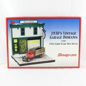 Snap On 1930's Garage Diorama 1934 Ford Stake Side Bed BRAND NEW