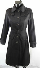 AQUASCUTUM 'PINKERTON' Rain Trench Coat sz 12 BLACK BNWT rrp £750 Made in UK
