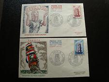 FRANCE - 2 enveloppes 1er jour 15/9/1956 (europa) (cy20) french