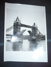 PHOTO PRESS VINTAGE LONDRES TAMISE