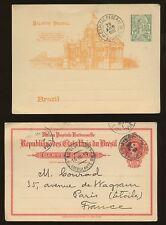 BRAZIL 1885-1910 STATIONERY CARDS...4 ITEMS