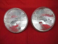 FORD FALCON XR XT XW XY GT GS 7 INCH ROUND SEALED BEAM HALOGEN HEAD LIGHTS PAIR