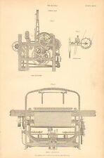 1874 Stampa ~ Tessitura ~ POWER GUAINA ~ PROTECTOR fine & prospetto Anteriore