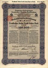 Preußische Boden-Bank AG, Anleihe, 100.000 Mark, 1923, DEKO