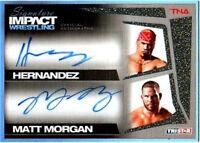 TNA Hernandez Matt Morgan 2011 Signature Impact GOLD Dual Autograph SN 14 of 25