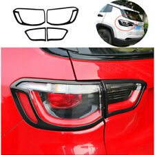 Fit For Jeep Compass 2017-2020 ABS Black Rear Tail Light Lamp Cover Trim 4PCS