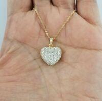 14K Yellow Gold Diamond Open Pendant Necklace
