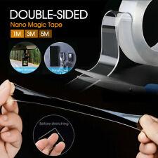 Double-Sided Nano Magic Tape Traceless Clear Adhesive Invisible Gel Anti-Slip AU