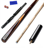 New 3/4 piece Handmade Ash Snooker Pool Cue set W/ Case Extension 19oz SD04